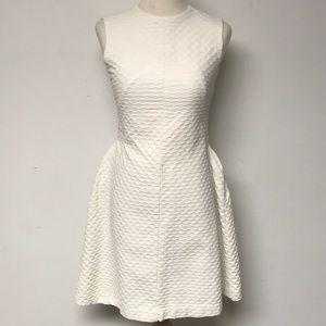 Vintage 1960's Off White Mod Dress